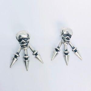 New! Vintage Cool Skulls Rivet Studs Earrings